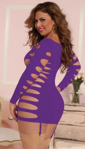 """Flashy Cage   Seamless Dress"""