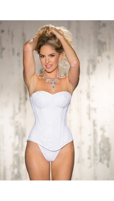 CORSET LACE OVERLAY WITH G-STRING