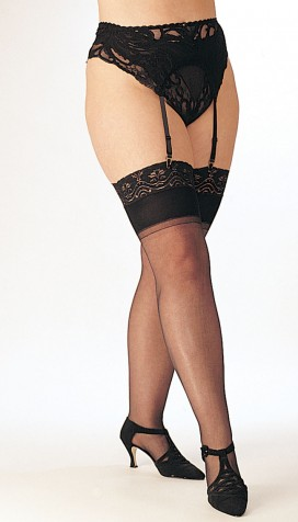 NEW AND IMPROVED SHEER STRETCH NYLON STOCKINGS