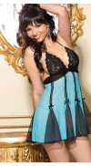 STRETCH LACE AND NET BABY DOLL